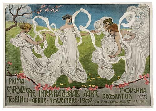 Poster: LEONARDO BISTOLFI (1859-1933) PRIMA ESPOSIZIONE INTER