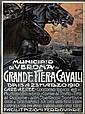 Poster: PLINIO CODOGNATO (1878-1940) GRANDE FIERA CAVALLI. 19, Plinio Codognato, Click for value