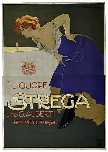 Poster: MARCELLO DUDOVICH (1878-1962) LIQUORE STREGA. 1906. 8