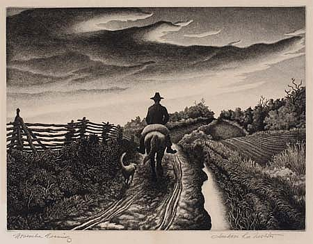 JACKSON LEE NESBITT Two etchings.