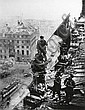 KHALDEI, YEVGENY (1917-1997) Two variant views of Soviet soldiers raising a red flag over the Reichstag, Berlin., Evgenij Anan'evič Chaldej, Click for value