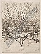 ABBO OSTROWSKI Two etchings., Abbo Ostrowsky, Click for value