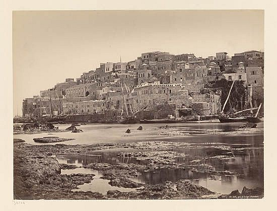 BONFILS, FELIX (1831-1885)/HAMMERSCHMIDT, W. Suite of 9 rare photographs of the Holy Land, comprising 8 Bonfils prints of Jaffa, Nazare