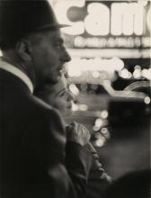 """PAULIN, FRANK (1926- ) """"Lovers, Times Square, New York City."""""""