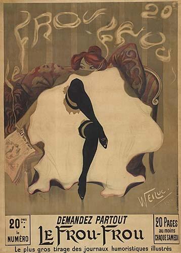 WEILUC (LUCIEN HENRI WEIL) (1873-1947) LE FROU FROU. 1900.