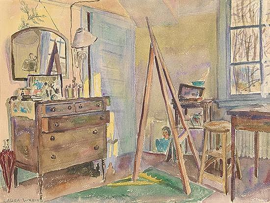 LAURA WHEELER WARING (1887 - 1948) Corner of Laura Wheeler Waring's Studio, Cheyney, PA.