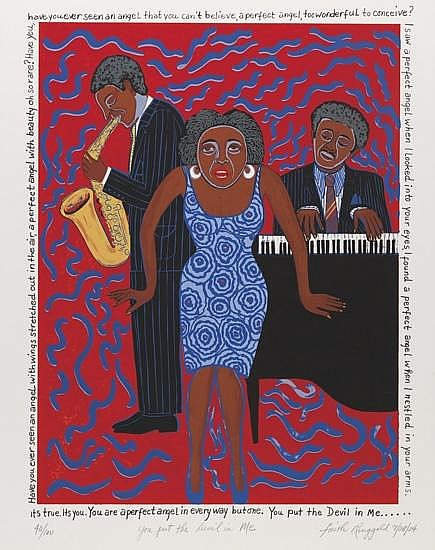 FAITH RINGGOLD (1934 -   ) Mama Can Sing: You Put the Devil in Me.