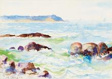 FRANK W. BENSON Seascape.