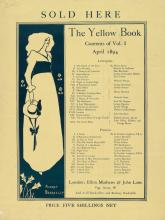 (BEARDSLEY, AUBREY.) Point-of-purchase poster for the first issue of The Yellow Book.