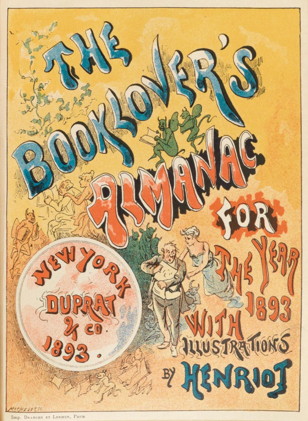 (BOOK ARTS.) The Book-Lover''s Almanac for the Year 1893.
