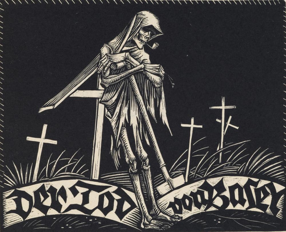 (DANCE OF DEATH.) Schiestl, Rudolf. Der Tod von Basel.