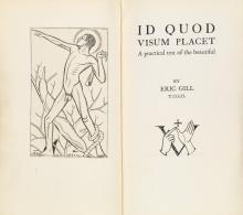 GILL, ERIC / GOLDEN COCKEREL PRESS. Id Quod Visum Placet: A Practical Test of the Beautiful.