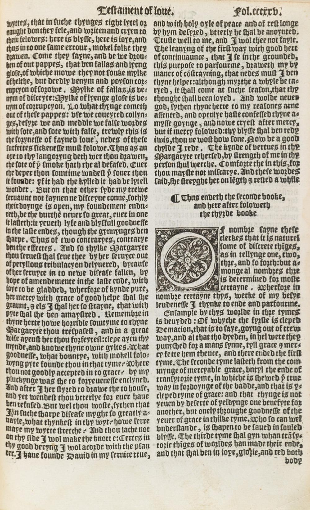 (LEAF BOOKS.) Chaucer, Geoffrey. Two Chaucer Leaves.