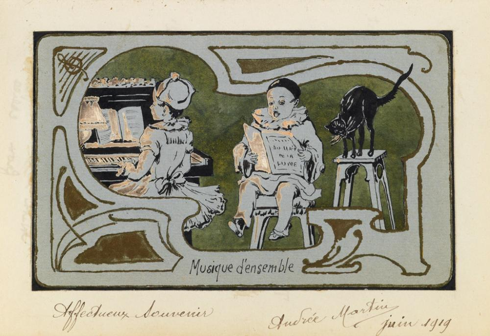 (MANUSCRIPTS and MANUSCRIPT REFERENCE.) Group of five 19th through early 20th century illustrated manuscript books.