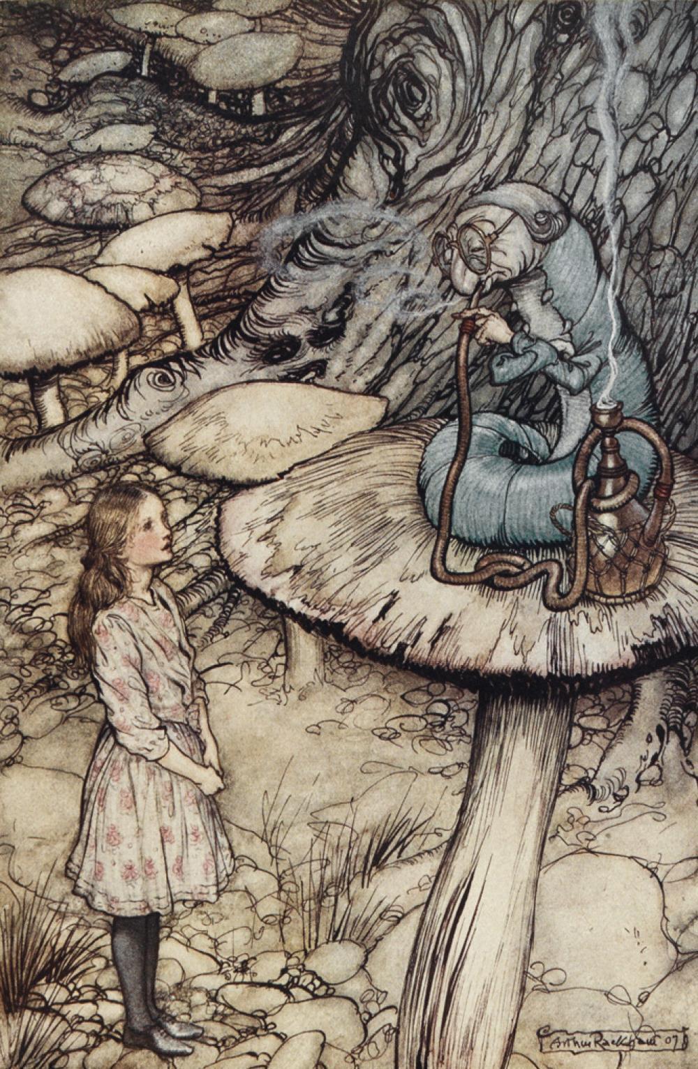 (RACKHAM, ARTHUR.) Carroll, Lewis. Aventures d''Alice au Pays des Merveilles.