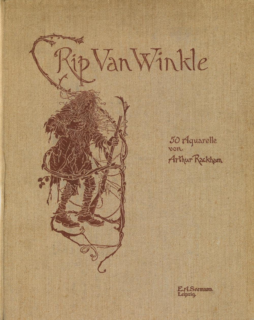 (RACKHAM, ARTHUR.) Irving, Washington. Rip Van Winkle: 50 Aquarelle.