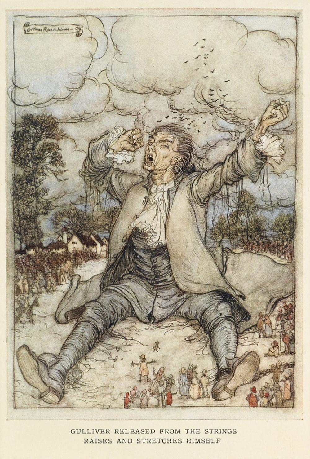 (RACKHAM, ARTHUR.) Swift, Jonathan. Gulliver''s Travels.