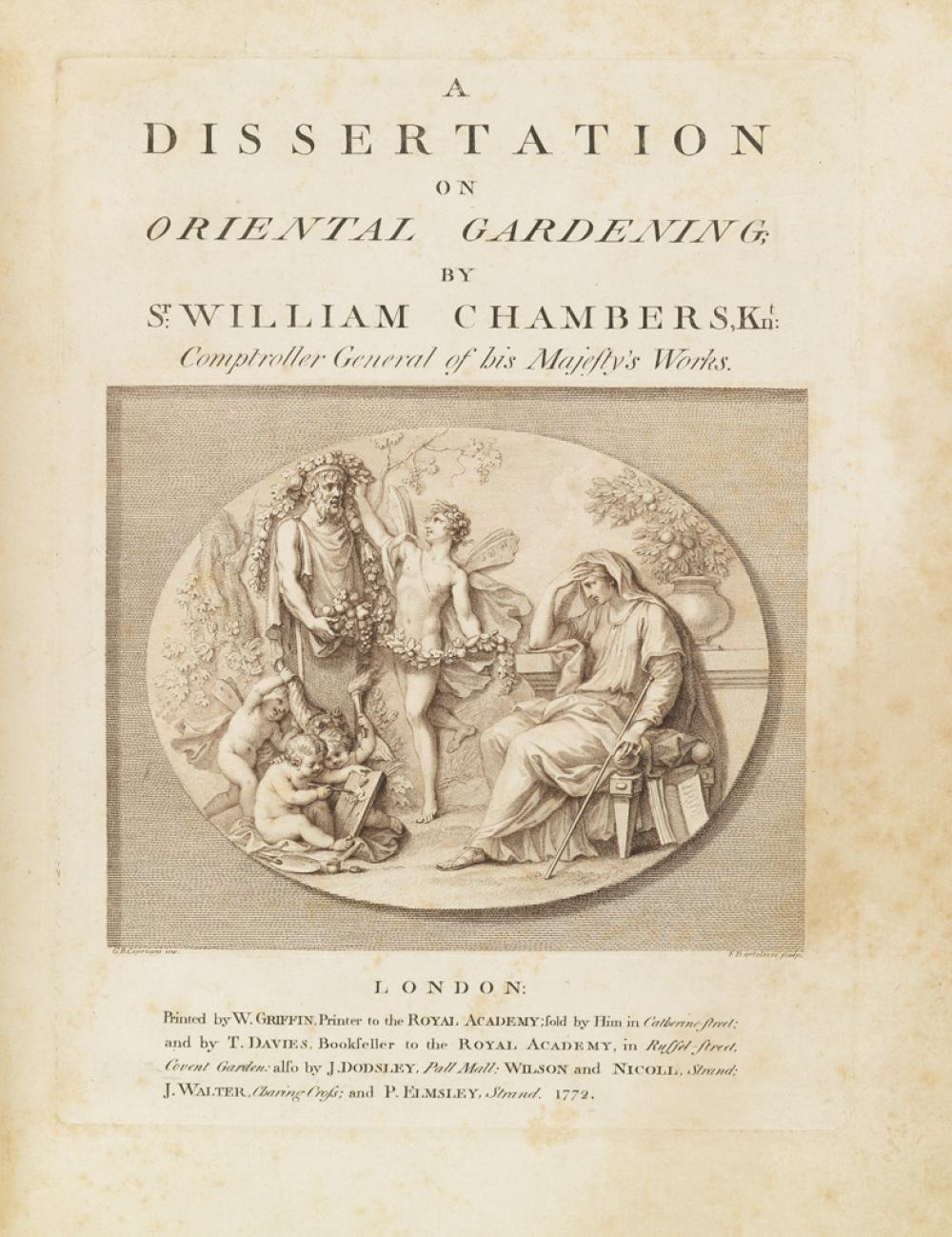 (ARCHITECTURE.) Chambers, William, Sir. A Dissertation on Oriental Gardening.