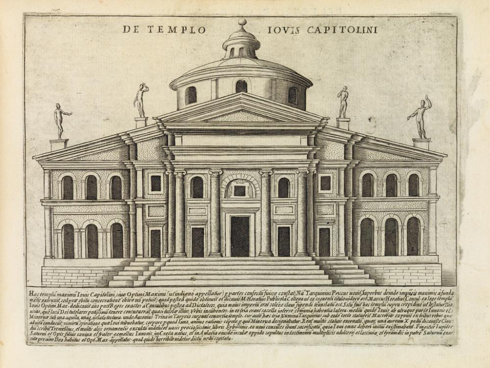 (ARCHITECTURE.) Lauro, Giacomo. Splendore dell''Antica Roma.