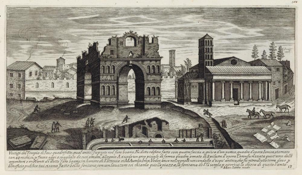 (ARCHITECTURE / ANTIQUITY.) Sadler, Egidio. Vestigi delle antichità di Roma Tivoli Pozzuolo.