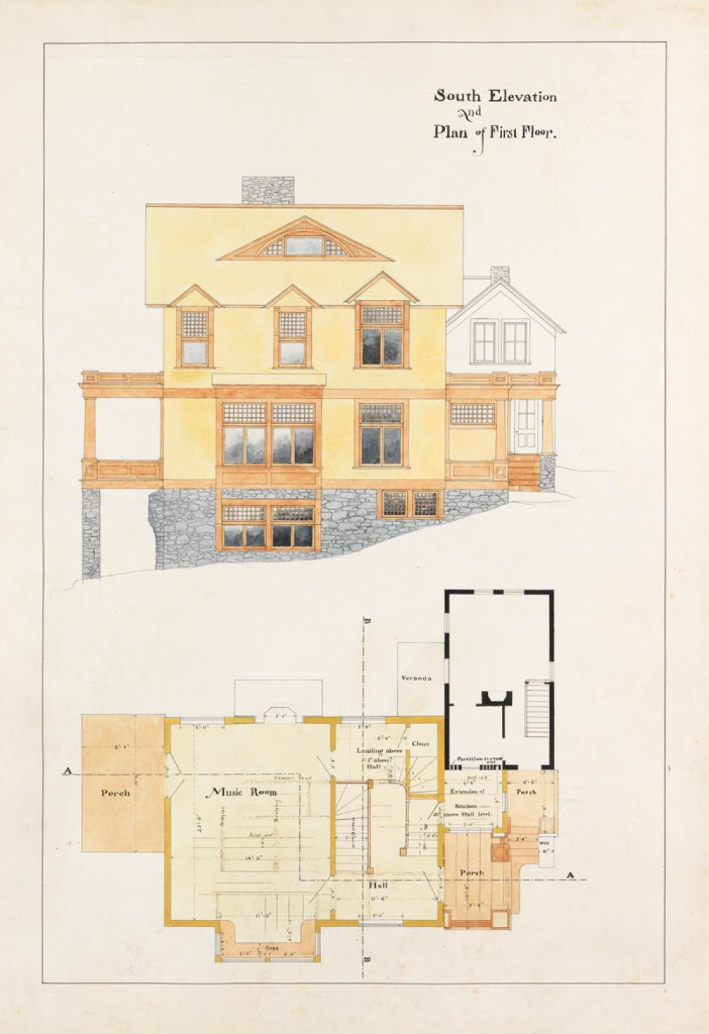(ARCHITECTURE / CONNECTICUT.) Stilson, William W. Designs and Specifications for Shingle-Sydes, Litchfield County, Connecticut. William