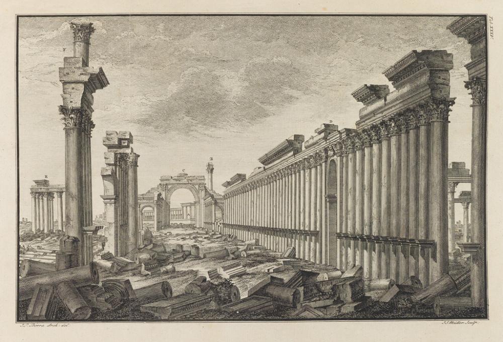 (ARCHITECTURE.) Wood, Robert and James Dawkins. Les Ruines de Palmyre autrement dite Tedmor, au Désert.