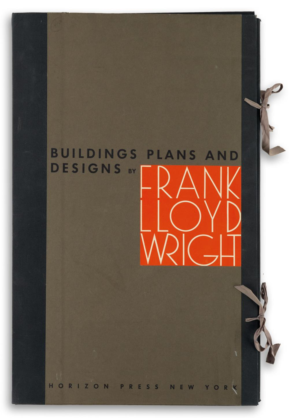 (ARCHITECTURE.) Wright, Frank Lloyd. Buildings, Plans, and Designs.