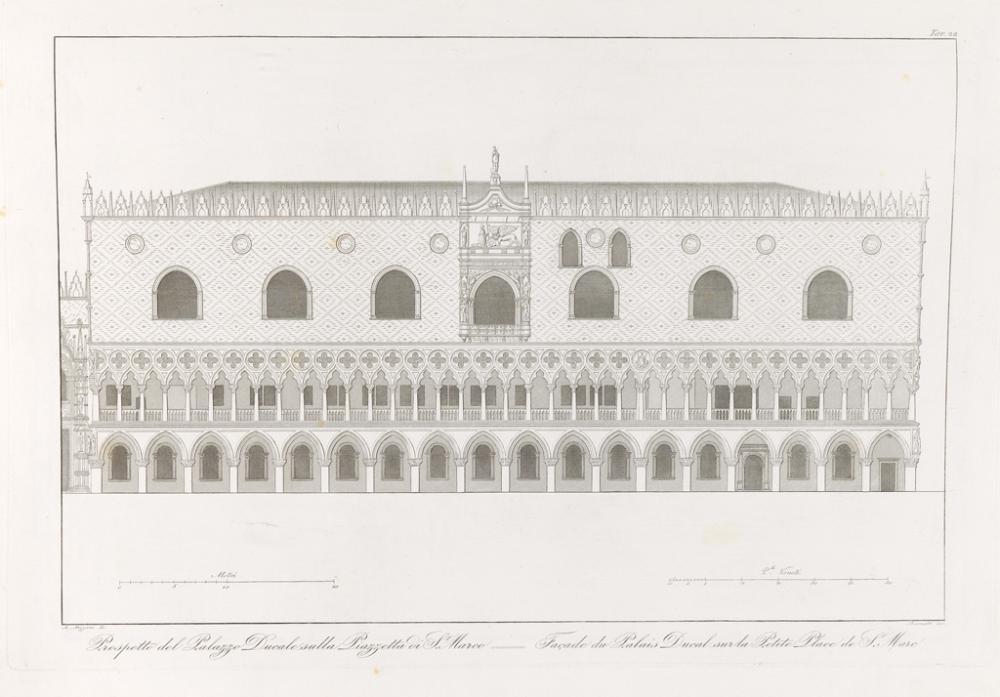 (ARCHITECTURE.) Zanotto, François. Édifices et Monuments Remarquables de Venise.