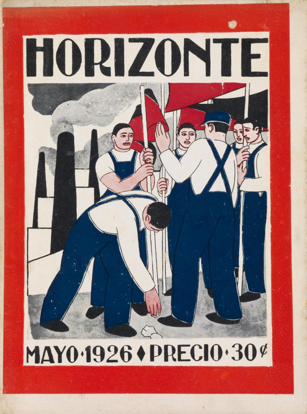 (ARTISTS'' MAGAZINES / MEXICO / MEXICAN REVOLUTION / STRIDENTISM.) Méndez, Leopoldo; Diego Rivera. Horizonte. Vol 1, Nos 1-4, 6-10.