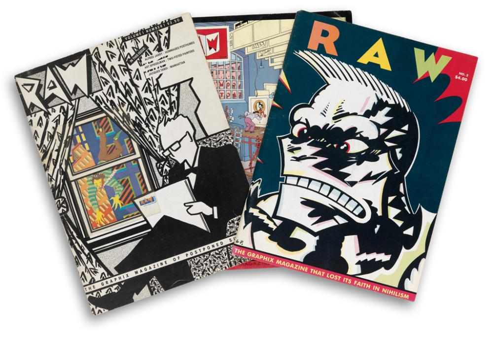 (ARTISTS'' MAGAZINES / COMICS.) Spiegelman, Art and Françoise Mouly. Raw. Volume 1, Number 1 - Number 8