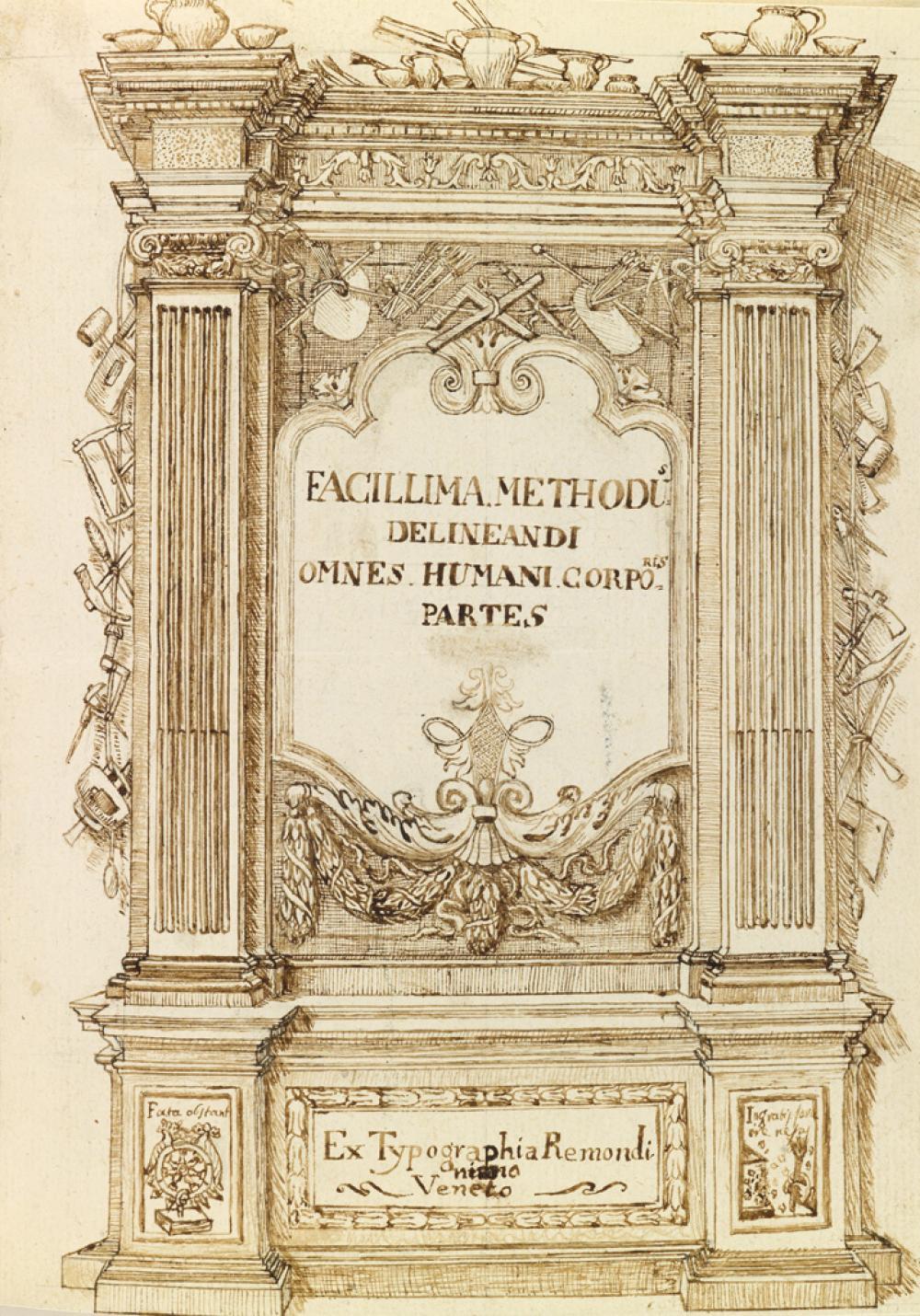 (ARTISTS'' MANUAL.) Piazzetta, Giambatista [Giovanni Battista] (after) Manuscript copy of Facillima methodus delineandi omnes humani co