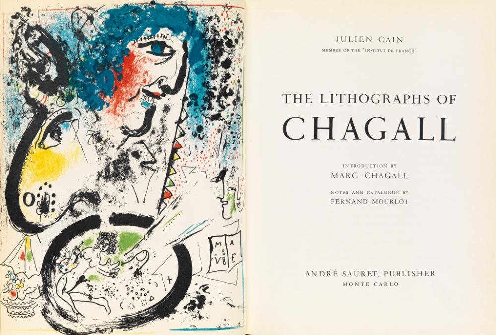 CHAGALL, MARC. The Lithographs. Volumes 1-3 (of 6).