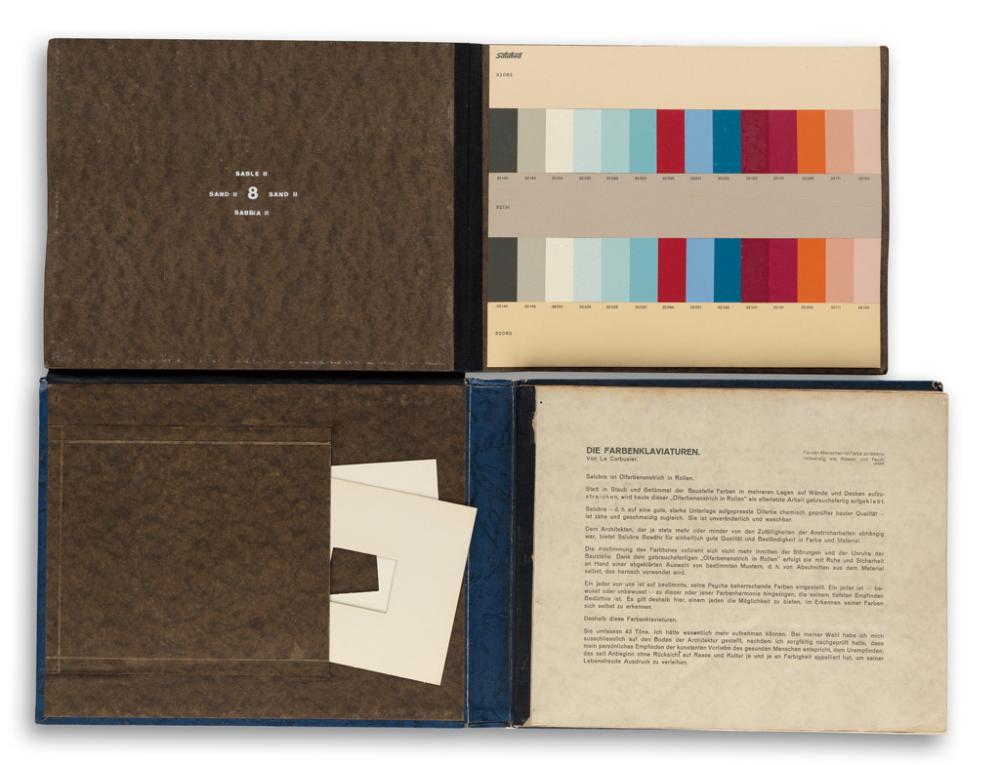 (DESIGN.) Le Corbusier (Charles-Édouard Jeanneret). Die Farbenklaviaturen von Le Corbusier.