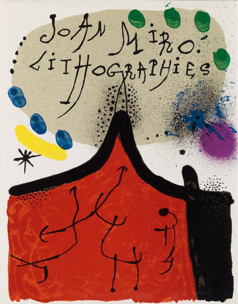 MIRÓ, JOAN. Miró Lithographs I-IV