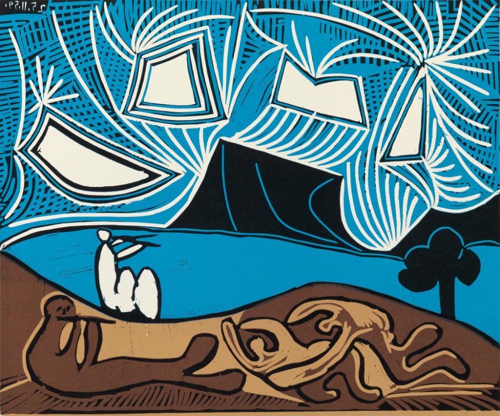 (PICASSO, PABLO.) Boeck, Wilhelm. Pablo Picasso: Linogravures.