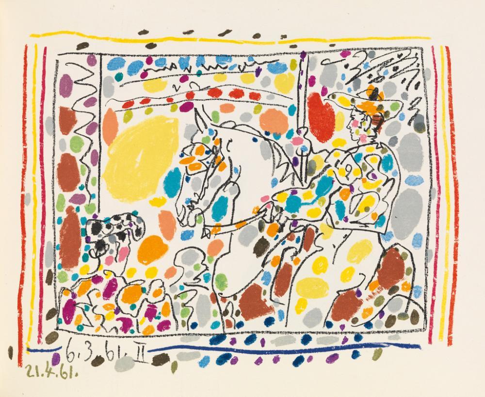(PICASSO, PABLO.) Sabartes, Jaime. A Los Toros mit Picasso.