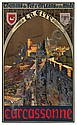 E. PAUL CHAMPSEIX (DATES UNKNOWN). LA CITE / CARCASSONNE. 1919. 38x23 inches, 98x59 cm. Lucien Serre, Paris., E. Paul Champseix, Click for value