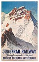 ERNST HODEL (1881-1955). JUNGFRAU RAILWAY / BERNESE OBERLAND SWITZERLAND. 1936. 40x25 inches, 102x64 cm. Paul Bender, Zollikon., Ernst (1881) Hodel, Click for value