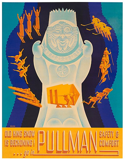 WILLIAM WELSH (1889 - ?). PULLMAN. 1936. 26x20 inches, 66x51 cm. Daniel Frey, Chicago.
