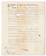(SLAVERY AND ABOLITION.) NEW YORK. Slave sale document: