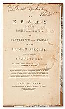 (SLAVERY AND ABOLITION--RACIAL THEORIES.)  SMITH, SAMUEL STANHOPE. An Essay on the Causes of the Variety of Complexion and Figure in th