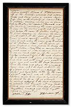 (SLAVERY AND ABOLITION.) GEORGIA. Sheriff's detailed receipt for the seizure and auction of a Negro boy Ben.