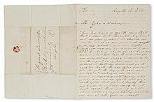 (SLAVERY AND ABOLITION--MOUNT VERNON.) FORD, WEST. Autograph Letter Signed to George Washington's grandnephew John Augustine Washington