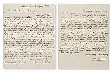 (SLAVERY AND ABOLITION--MOUNT VERNON.) [WASHINGTON, JOHN AUGUSTINE.] Letter from Henry Hill, noted slave dealer regarding Washington''s