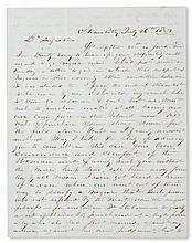 (SLAVERY AND ABOLITION--MOUNT VERNON.) [WASHINGTON, JOHN AUGUSTINE.] Autograph Letter Signed from Mr. L. T. Stuart to George Washington