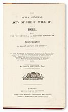 (SLAVERY AND ABOLITION.) GIFFORD, JOHN; EDITOR. An Act for the Abolition of Slavery Throughout the British Colonies, for Promoting the