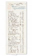(SLAVERY AND ABOLITION--SOUTH CAROLINA.) Bill from A F. Browning for clothing and dry goods for the Fulton Estate.