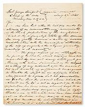 (SLAVERY AND ABOLITION--GEORGIA.) HARDING, CAPTAIN E. Autograph Letter Signed to Colonel George Bomford, Chief of the Ordnance, Washing