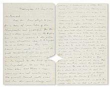 (SLAVERY AND ABOLITION.) DOUGLASS, FREDERICK. Autograph Letter Signed to [George Alfred] Townsend.