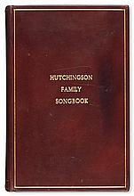(SLAVERY AND ABOLITION.) HUTCHINSON, ASA B. The Granite Songster, Containing the Poetry as Sung by the Hutchinson Family.
